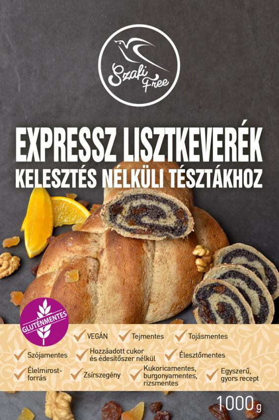 Szafi Free Expressz Lisztkeverék kelesztés nélküli tésztákhoz 1kg