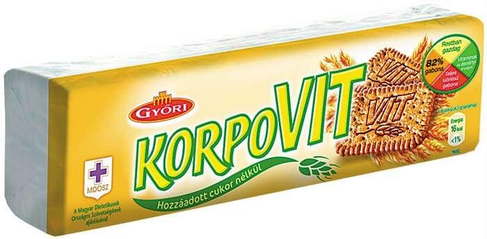 Győri Korpovit keksz 174g - Ir-barát termékek 160 grammos..