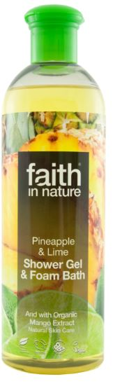 Faith in Nature Ananász és Lime Tusfürdő 400ml